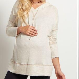 Gray hoodie Maternity sweatshirt